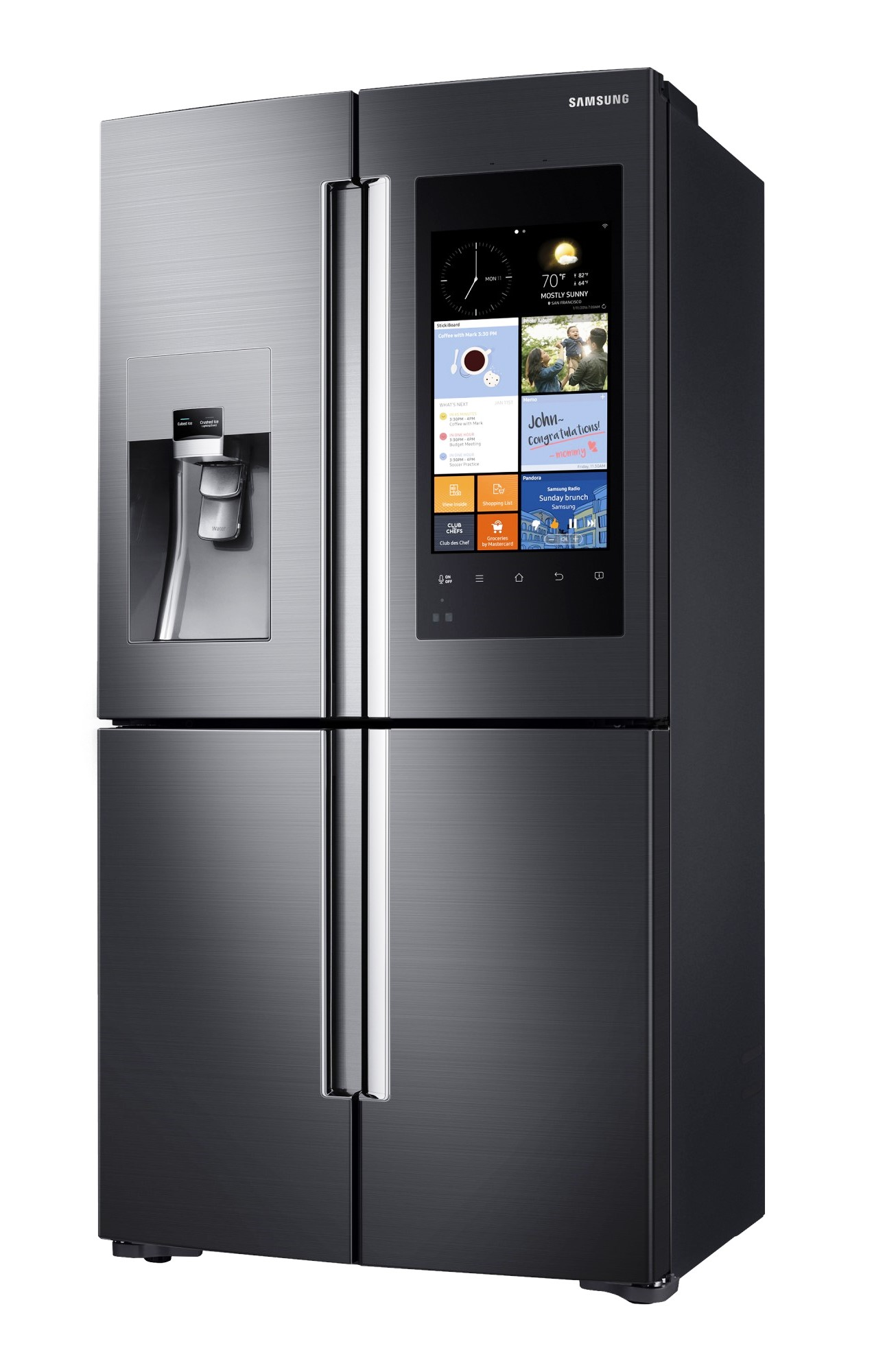 samsung family hub refrigerator kulkas pintar masa kini technobusiness id. Black Bedroom Furniture Sets. Home Design Ideas